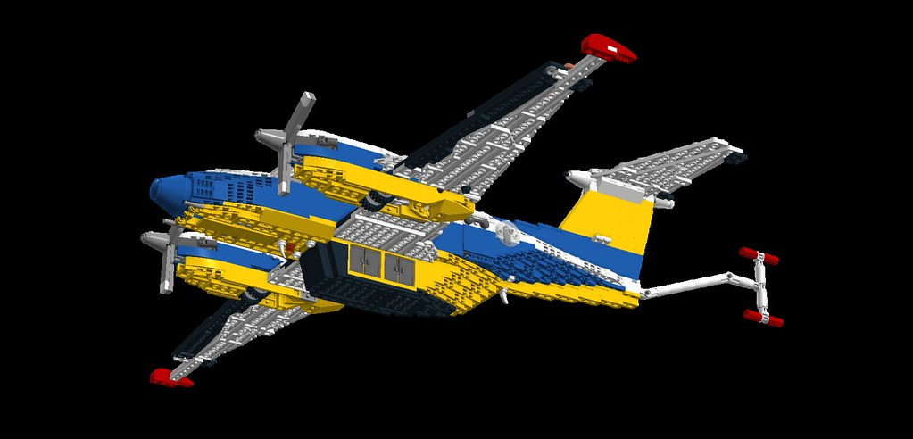 Lego Airplane King Air 5 Aerial Survey Wing And Tail