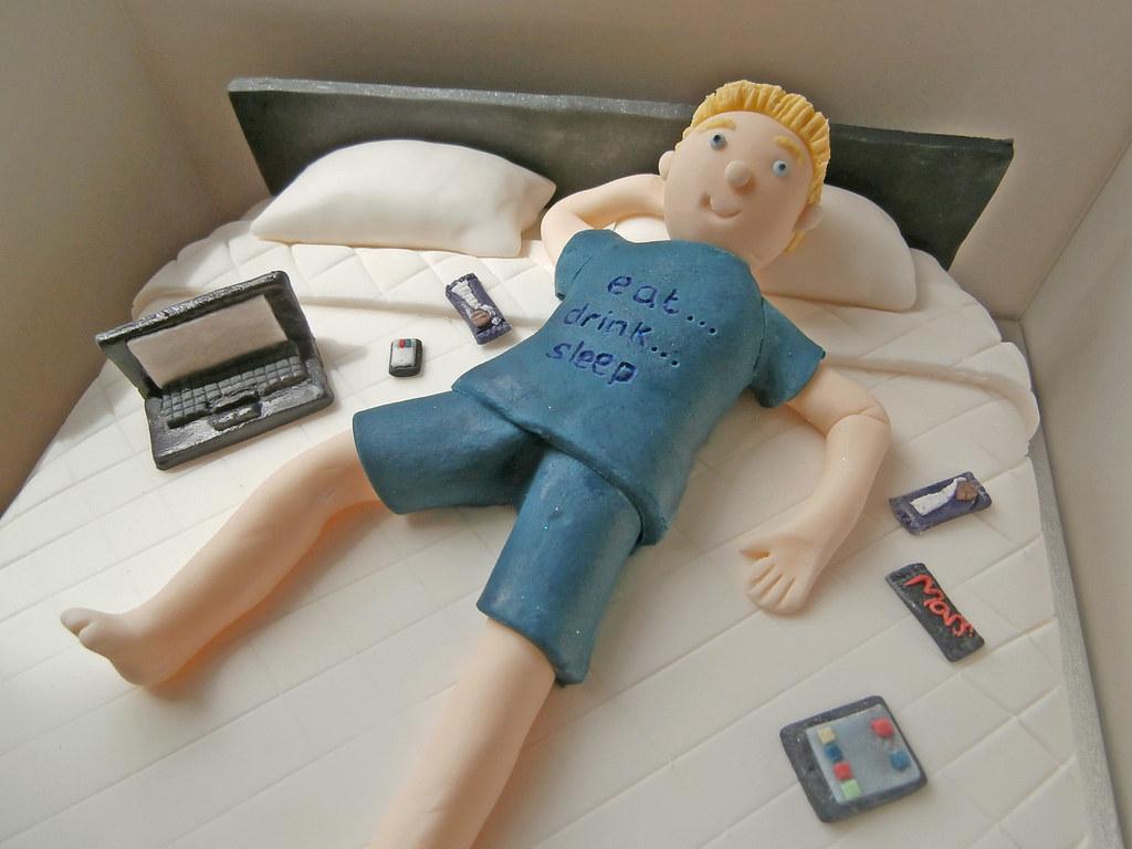 gadget man birthday cake with gadgets ja  whitehead flickr