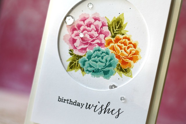 STAMPtember® Clearly Besotted: Layered Chrysanthemums