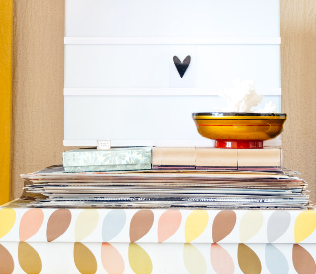 lightbox and orla kiely box  - room tour - cardboardcities
