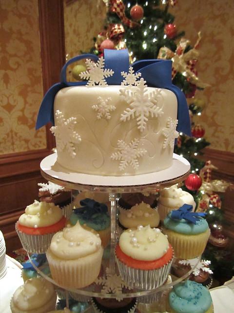 Winter Wonderland Wedding Cupcake Tower and Cake   Flickr ...