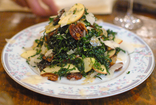 Kale Salad, Apple, Dates, Pecan, Sheep's Cheese | by Darin Dines