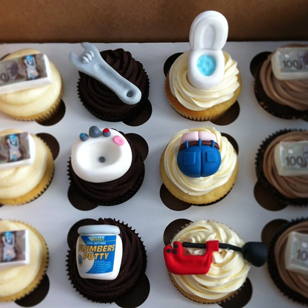 Plumber Themed Cupcakes Catherine Flickr