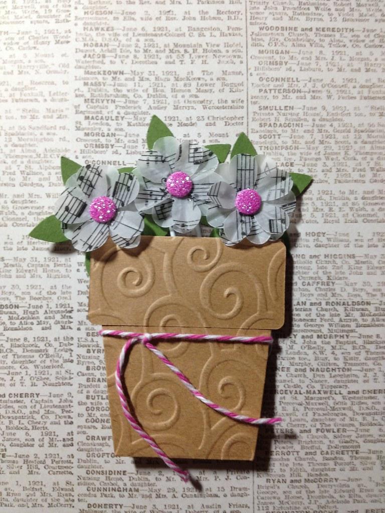 3 Handmade Musical Note Vellum Flower Paper Clip Bookmark Flickr