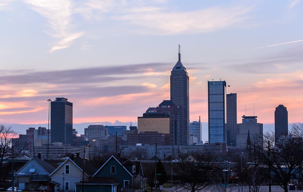 Indianapolis Skyline Indianapolis Skyline From Highland