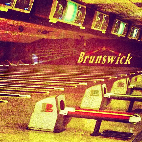 #Bowling Alley From Back In The Day. #brunswick #pins #vin