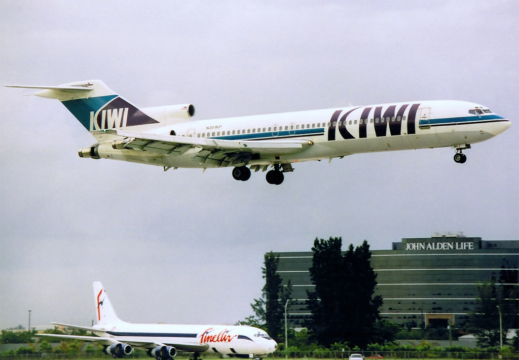 Kiwi International Airlines Boeing 727 225adv N361kp Mia 0