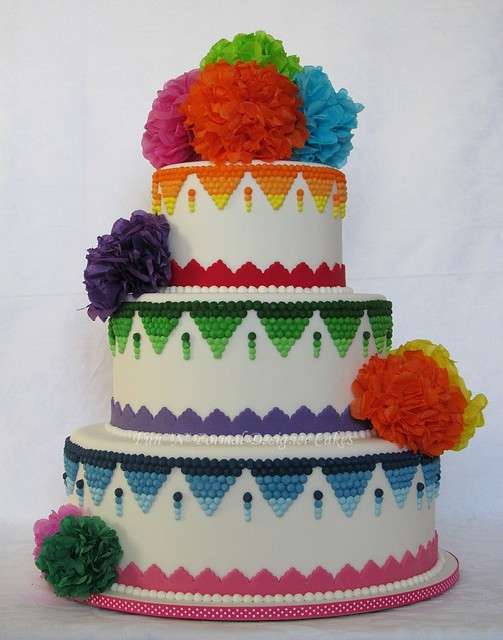 Mexican themed Wedding Cake | Flickr - Photo Sharing!