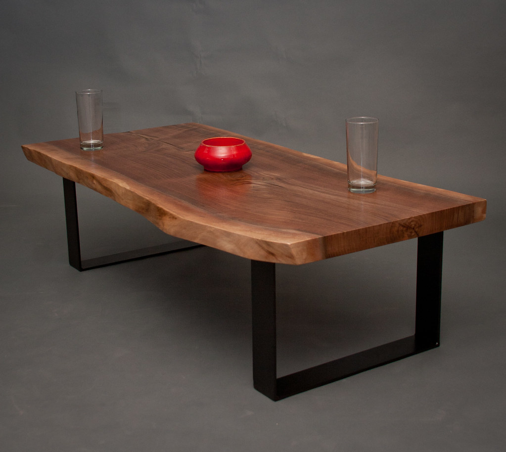 Live Edge Black Walnut Coffee Table Seattle Furniture Ma Flickr