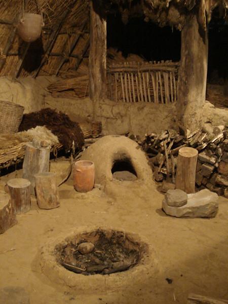 Intérieur maison danubienne (Néolithique)