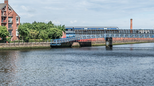 LAGAN RAILWAY PLUS PEDESTRIAN BRIDGE IN BELFAST [TWO FOR THE PRICE OF ONE]--121117 | by infomatique