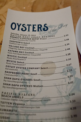Top of the oyster list at Rodney's | by digiteyes