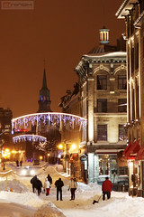 St-Paul street under the snow - Old Montreal