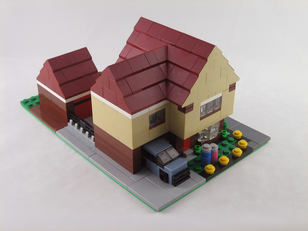 mini scale lego house this was a moving in present for. Black Bedroom Furniture Sets. Home Design Ideas