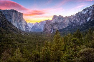 Yosemite Valley - Tunnel View Sunrise | by Jeff Krause Photography