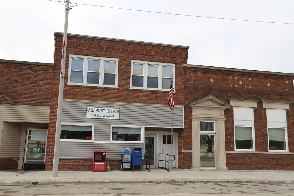 Salem Iowa Map.Salem Iowa Post Office 52649 Henry County Ia Google Map