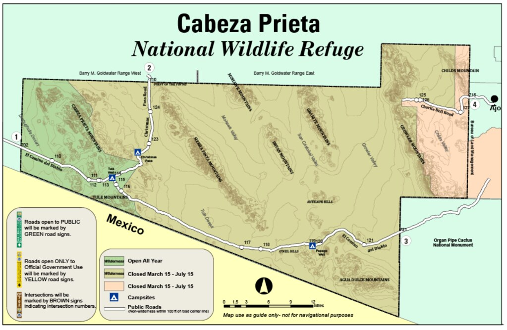 01 Map Cabeza Prieta Nwr Camino Del Diablo The