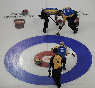 Edmonton Ab.Mar5,2013.Tim Hortons Brier.Alberta,New Brunswick.CCA/michael burns photo | by seasonofchampions