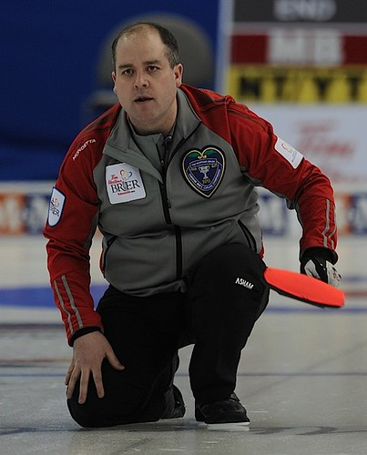 Edmonton Ab.Mar8,2013.Tim Hortons Brier.N.W.T/Yukon skip Jamie Koe.CCA/michael burns photo | by seasonofchampions