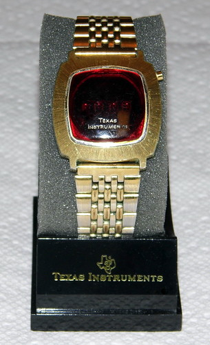 Vintage Texas Instruments Men's LED Watch, Model 403, Goldtone Finish, Circa 1970s | by France1978