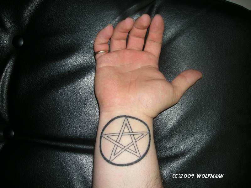 Wolfmaan Pentagram Tattoo On Right Wrist Representing The Flickr