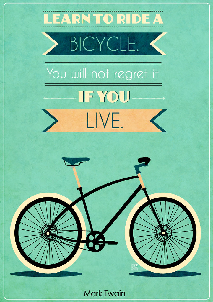 Bike Quotes Fascinating Bike Quotes 48 Typography Posters About Bikes Shawny W Flickr