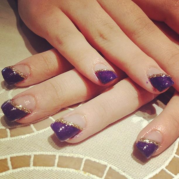 Roosas Prom Nails Enjoy Honey Purple