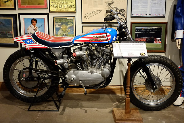 Evel Knievel S 1976 Harley Davidson Goes To Auction: Evel Knievel's 1972 Harley-Davidson Alloy XR750 Jump Bike