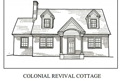 Colonial Revival Cottage Coloring Book Page Roanoke Flickr