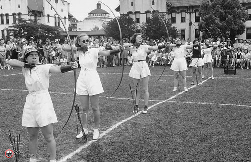 Phi Lamba Archery Competition, Play Day 1938 | by Valdosta State University Archives