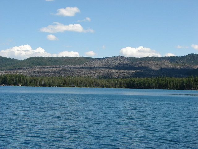 BIg Obsidian Flow from Paulina Lake