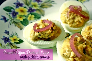 Bacon Dijon Deviled Eggs, Titled | by femmefraiche