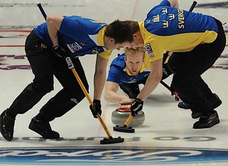 Victoria,B.C. Mar31,2013.Ford Men's World Curling Championship.Sweden skip Niklas Edin.CCA/michael burns photo | by seasonofchampions