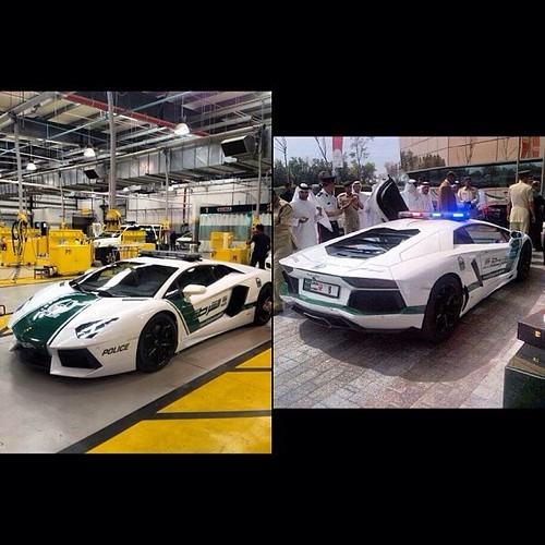 Awesome New Police Car In Dubai #dubai #uae #police #Lambo
