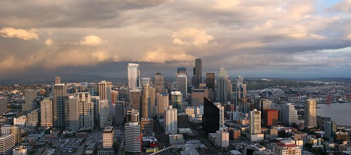 Panoramic taken from the Space Needle in Seattle | by deepbane