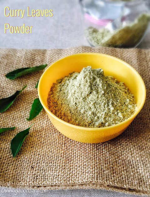 Curry Leaves Powder Recipe for Toddlers and Kids5