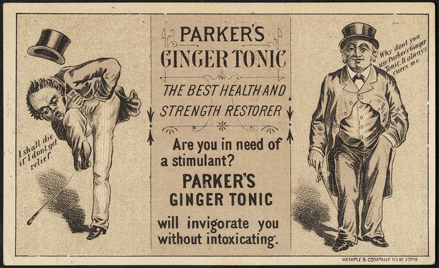 Parker's Ginger Tonic - the best health and strength restorer. (front)