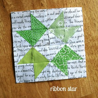 FW extra block, ribbon star | by quirky granola girl