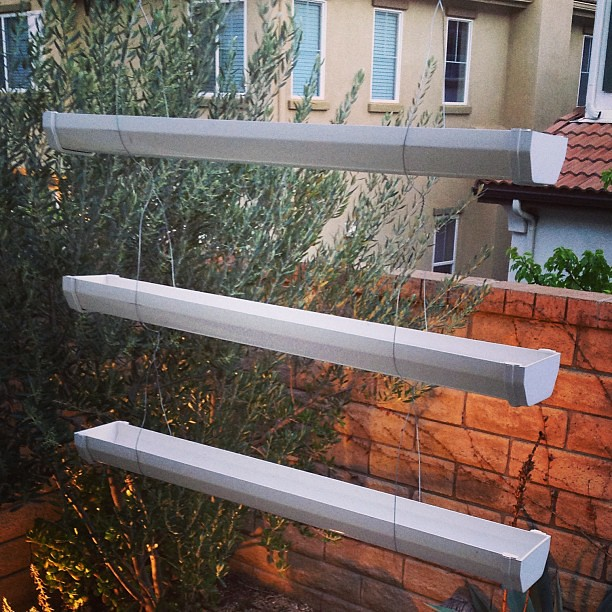 Just made this 3-tier hanging #planters made from a rain g ...