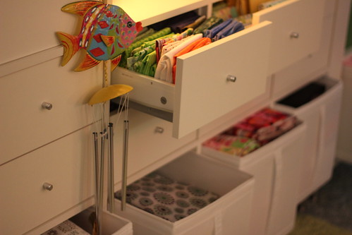 Sewing Studio Using Ikea Expedit Shelving Units Skubb Box Flickr