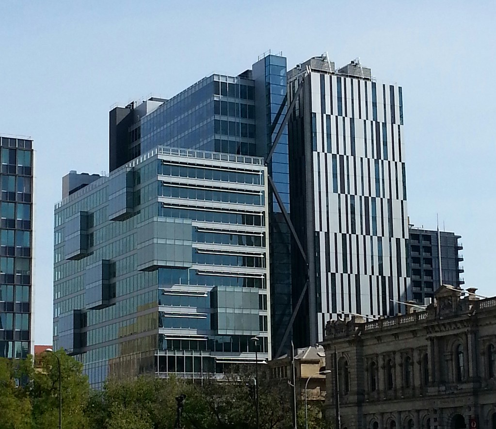 Assorted glass blocks architecture of adelaide cbd flickr for Architecture jobs adelaide