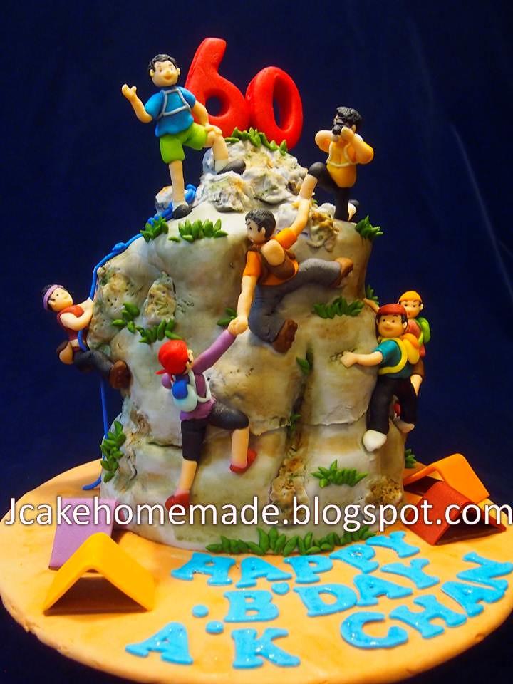 Happy Birthday Climbing Cake