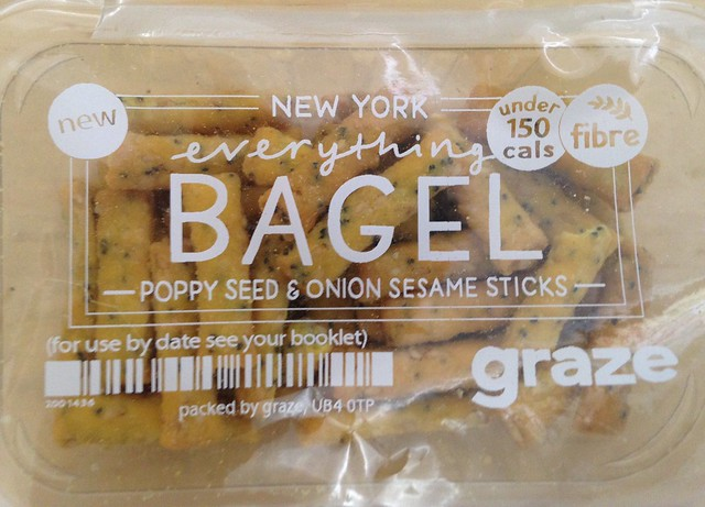 Graze box: New York Everything Bagel