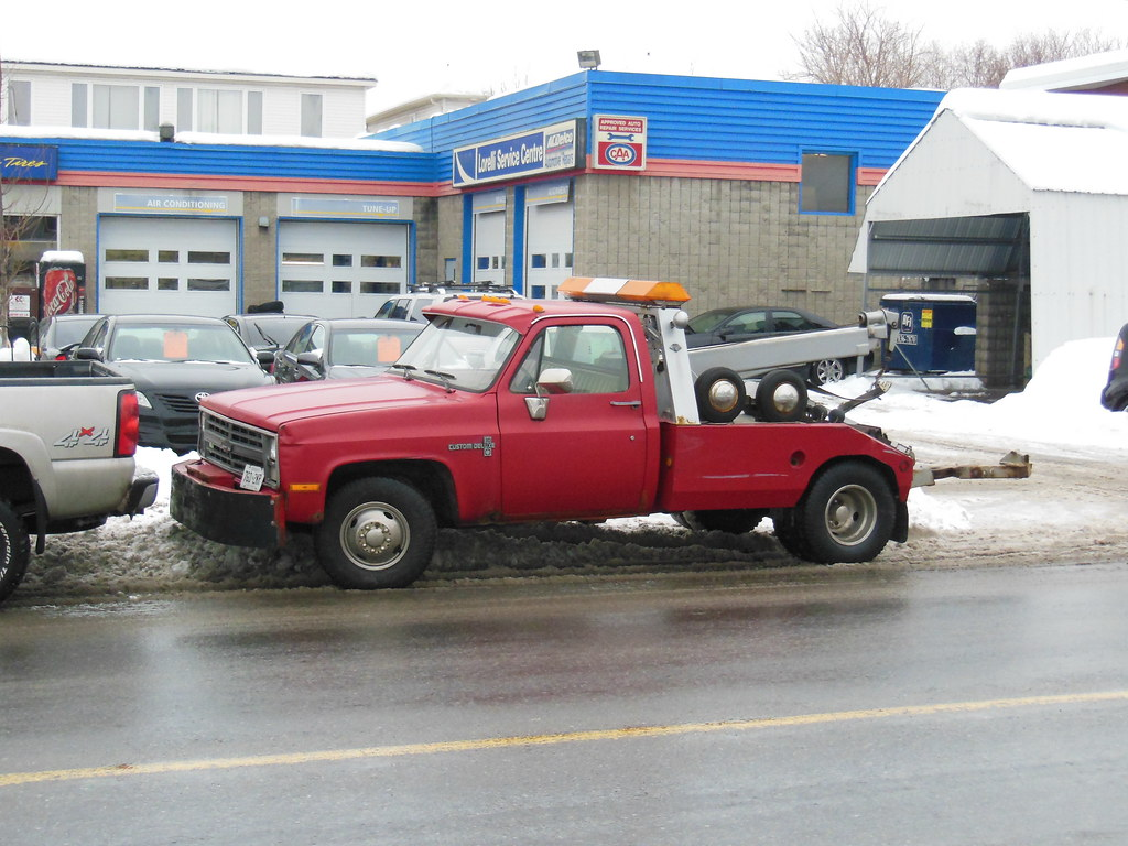 Red Chevy Custom Deluxe 30 Tow Truck With A Vulcan Body Ot