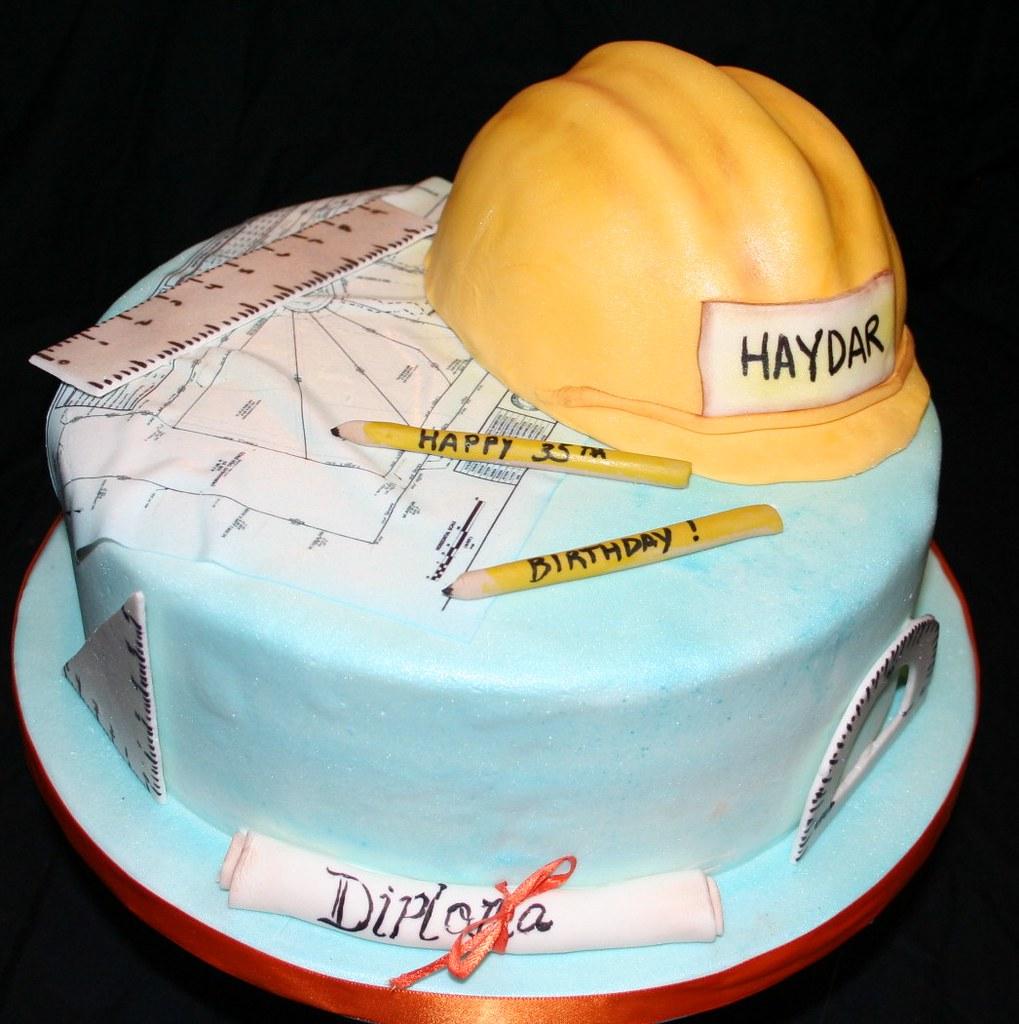 Civil Engineer Birthday Cake With Name
