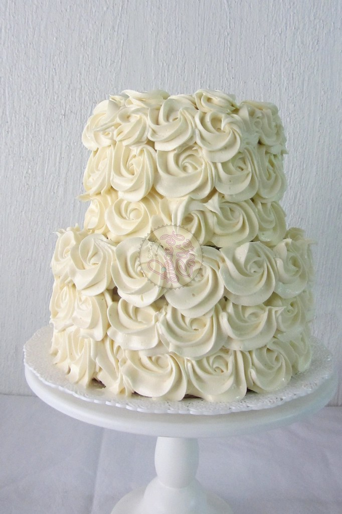 2 Tier Rose Cake Rose Cake De 2 Pisos Piece Of