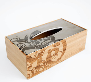 a-laser-engraved-metal-tissue-box | by Trotec Laser Inc.