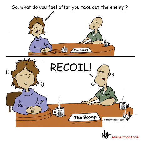 Recoil Cartoon Created By Gunny Wolf For More Laughs