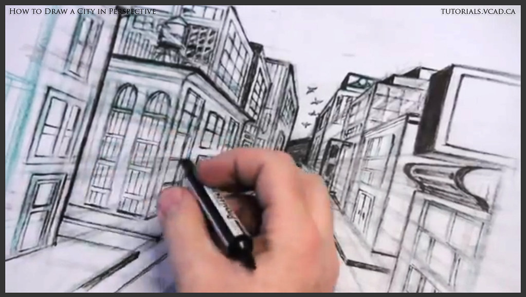 Learn How To Draw City Buildings In Perspective 038 Flickr