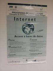 Cartel. Internet para investigadores en medicina.